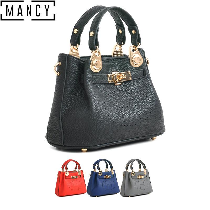 Wholesale women's bag brand new fashion lock litchi stria small platinum parcel lady's single shoulder bag(China (Mainland))