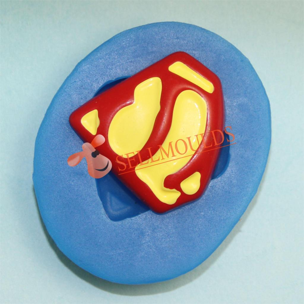 Superman Accessories Flexible Silicone Mold Mini Resin Silicone Mold Decoration MoldBKSILICONE F1007(China (Mainland))