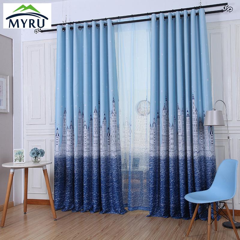 Acquista all 39 ingrosso online tende blu per la camera dei - Tende camera ragazzi ...