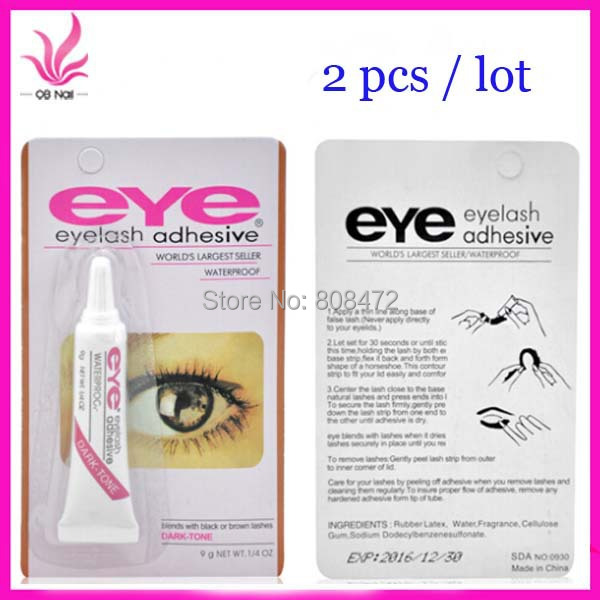 Free Shipping Wholesale 50PCS/Lot Pro Genuine Fake Eyelash Glue Stick Multi-purpose Super Glue EYE Eyelash Glue White/Black(China (Mainland))