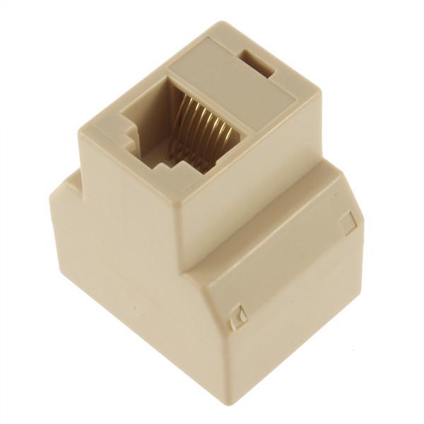 SOCKET RJ45 Splitter Connector CAT5 CAT6 LAN Ethernet Splitter Adapter 8P8C Network modular plug PC laptop cable contact(China (Mainland))