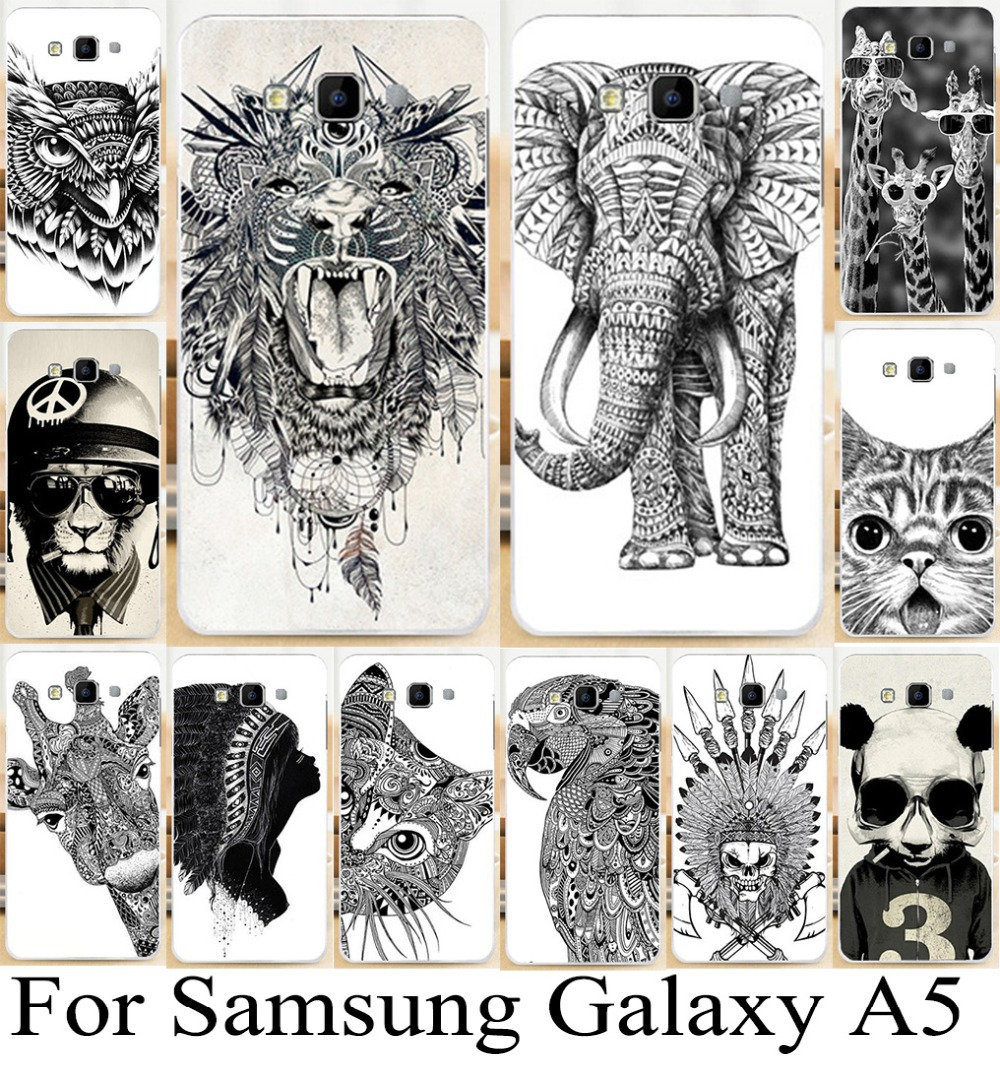 for Samsung Galaxy A5 A500 A5000 cute cartoon animal skin shell hood cover bestselling mobile phone case freeshipping wholesale(China (Mainland))
