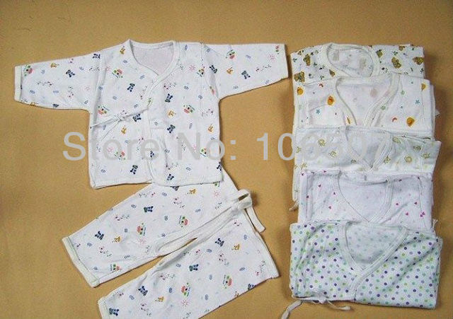 "100% cotton newborn baby clothing, 2 pcs sets "" coat + split pants "" baby wear sets,hot selling many colors"