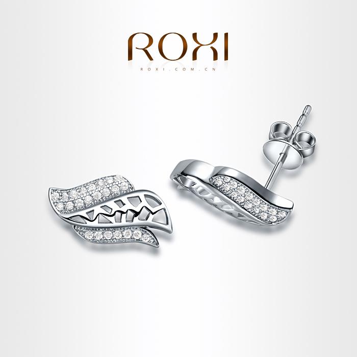 ROXI 2015 New Fashion Snowflower Shining Austrian Crystal Stud Earrings Simulated Diamond Earrings Accessories Women Hot(China (Mainland))