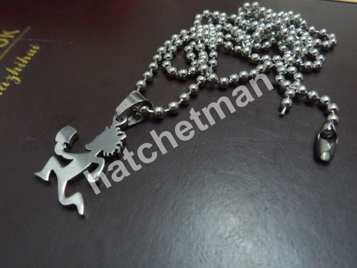 1 in hatchetman charm stainless steel plated with silver