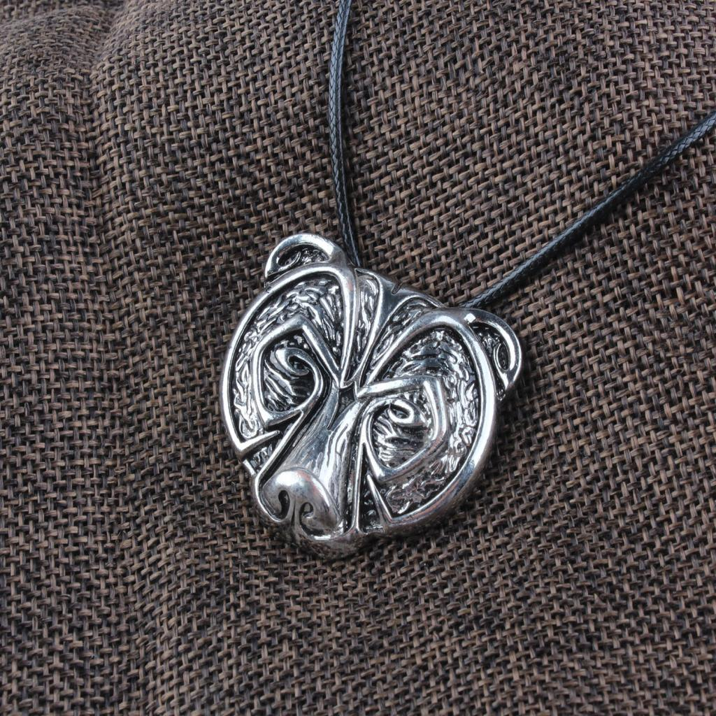 Bear Head Amulet Pendant Necklace Norse Viking Necklace Talisman Jewelry