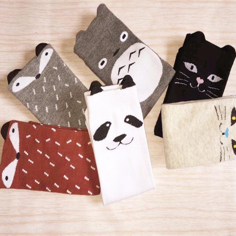 Toddler New Totoro Design Baby Socks Girls Boys Fall Winter Leg Warmers Fox Socks Knee Pad(China (Mainland))