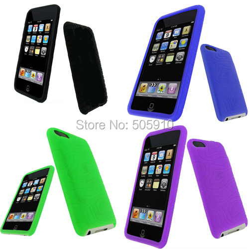 1pc retail free shipping! Tyre soft silicone case cover for iPod Touch 2 3 2G 3G Gen iTouch Silicone Cover(China (Mainland))