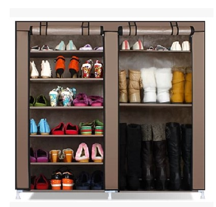 Simple shoe cabinet double thick dust cloth Oxford storage cabinets large hall(China (Mainland))