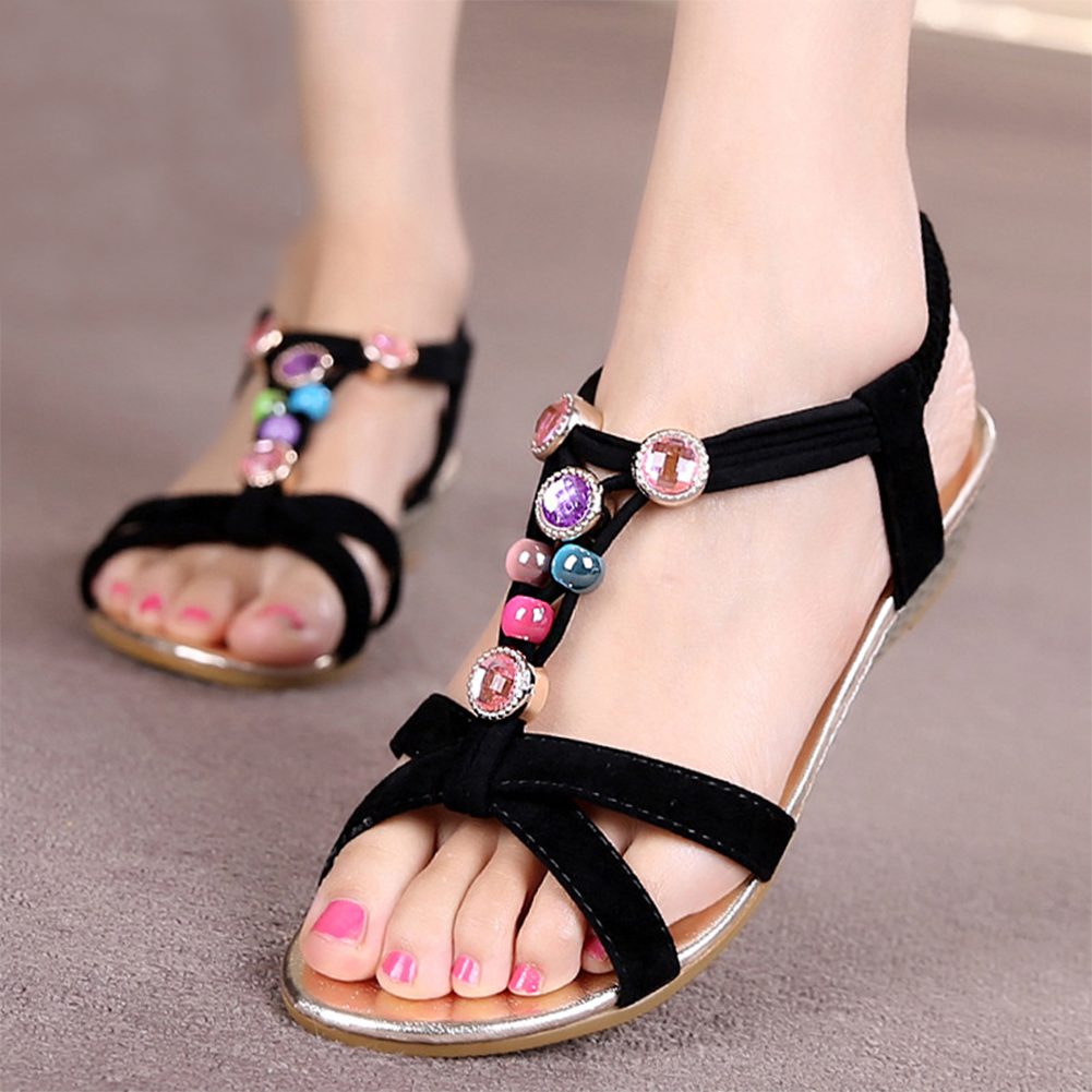 Women Summer Shoes Flat Heel Flip Brief Herringbone Flip-flop Sandals Flat Women Shoes with 4 Colors *35