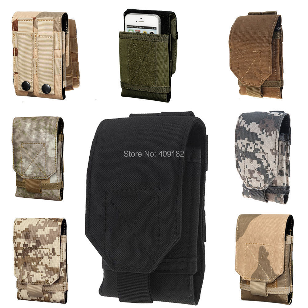 2015 NEW Mobile Phone Bag Outdoor MOLLE Army Camo Camouflage Bag Hook Loop Belt Pouch Holster Cover Case For Multi Phone Model(China (Mainland))
