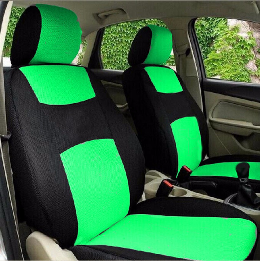 4pcs mesh fabric auto interior accessories classic design styling car seat covers universal car. Black Bedroom Furniture Sets. Home Design Ideas