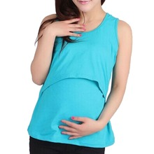 Factory Price! Summer Mummy Maternity Breastfeeding Cross Nursing Modal Soft Vest Top 10 Colors(China (Mainland))