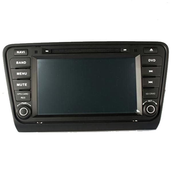 8inch Car Center Media for Skoda Octaiva 2014 Car DVD CD PC Player GPS Navigation Stereo Audio Radio Video Bluetooth RDS USB SD(China (Mainland))