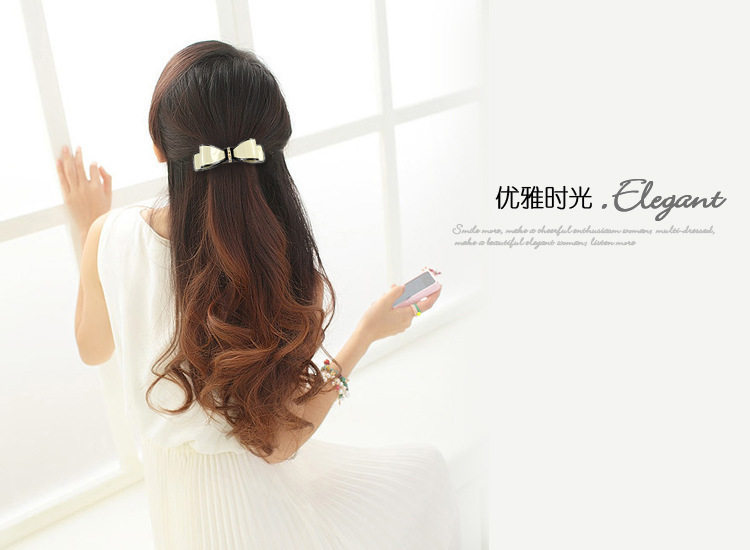 New Fashion Bowknot Crystal Hairpins For Girls Cellulose Acetate Hair Clip 2 colors(China (Mainland))