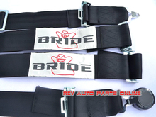 Black 4 Point Bride Racing Quick Release Safety Seat Belt Harness(China (Mainland))