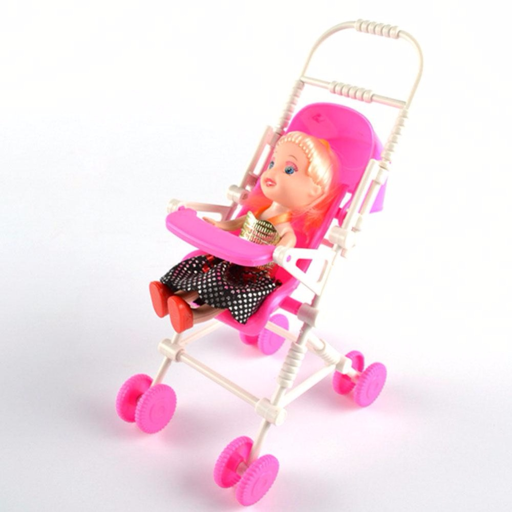 Assembly Baby Kids Children Stroller Trolley Nursery Furniture Toy For Barbie Doll Girls Gifts(China (Mainland))