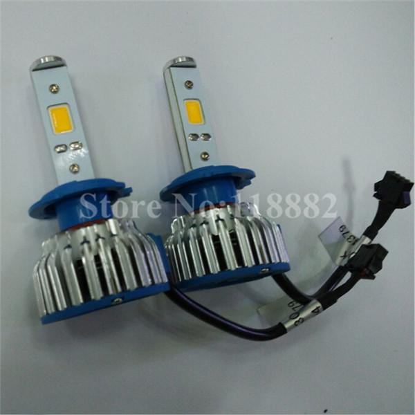 2x Plug&Play 24W 2600LM white light Universal LED H1 H3 H7 H8/9/11 9005 9006 Head Lamp Light bulb(China (Mainland))