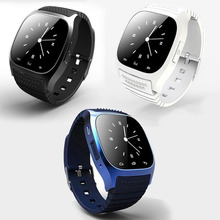 Bluetooth Digital Smart Wrist Watch Phone Mate M26S For IOS Android iPhone Samsung HTC LG New Blue A