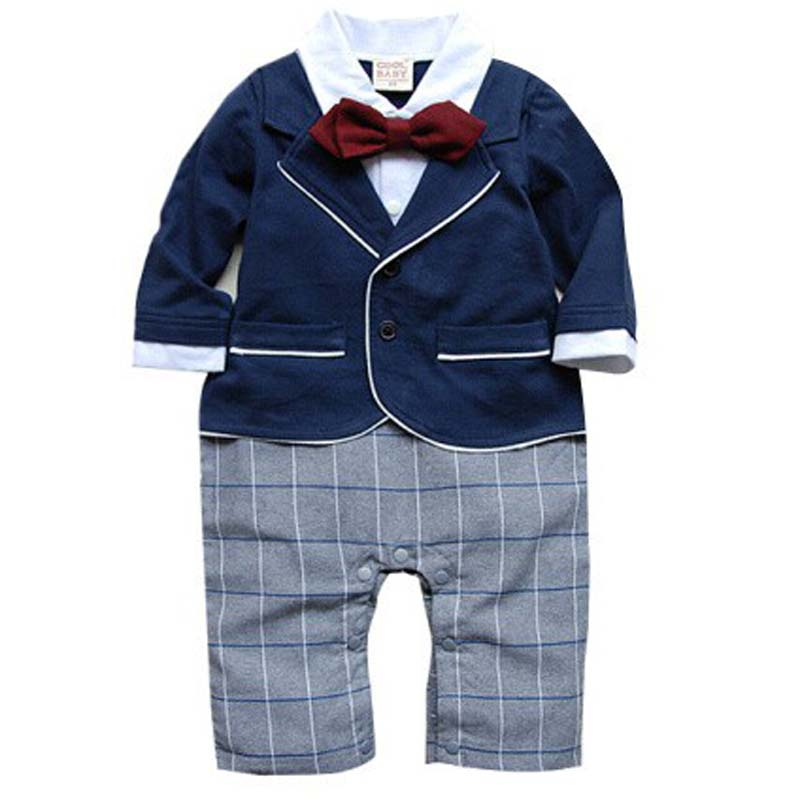 Wholesale 4pcs/lot Infant Toddler Baby Boys Formal Wear Tuxedo Rompers,bow tie baby clothing boy infant wear free shippingNO.74<br><br>Aliexpress