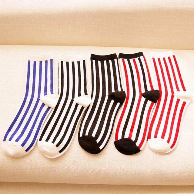 Skarpetki bawełniane paski różne kolory