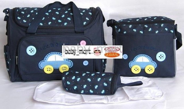 Free Shipping Baby Diaper Bags/Baby Nappy Bag/stylish diaper bags/designer/backpack diaper bags (5sets/Lot )