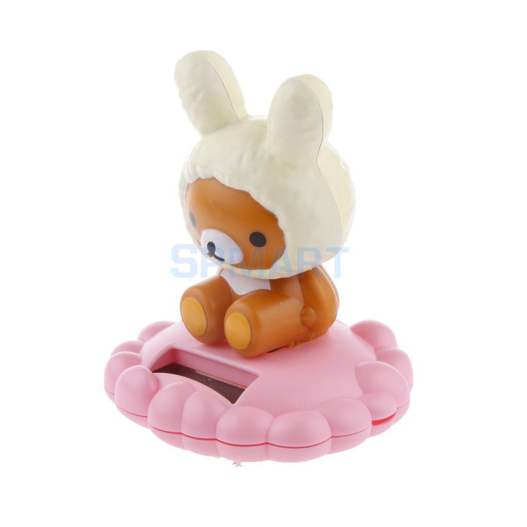 Cute Solar Powered Rabbit Figure Bobble Head Dancing Toys Home Ornaments(China (Mainland))