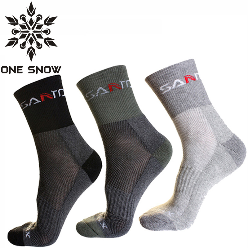 ONE SNOW 3 Pair/Lot Sport Scoks Coolmax Thermo Socks Men Quick Dry Outdoor Ski Camping Running Socks Male Winter Hiking Socks(China (Mainland))
