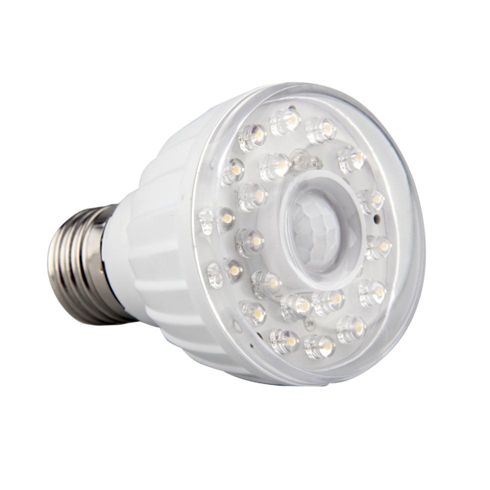 e27 23 led warm white light lamp ir infrared pir motion sensor detector in le. Black Bedroom Furniture Sets. Home Design Ideas