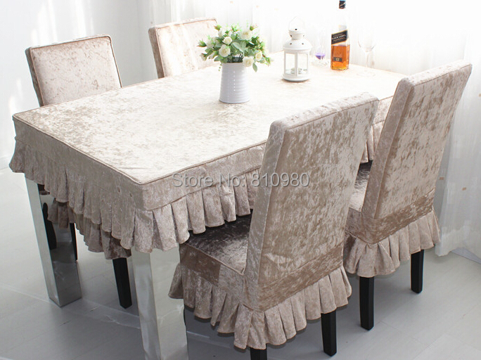 Sure fit cotton dining room chair slipcover high grade ice for 6 dining room chair covers