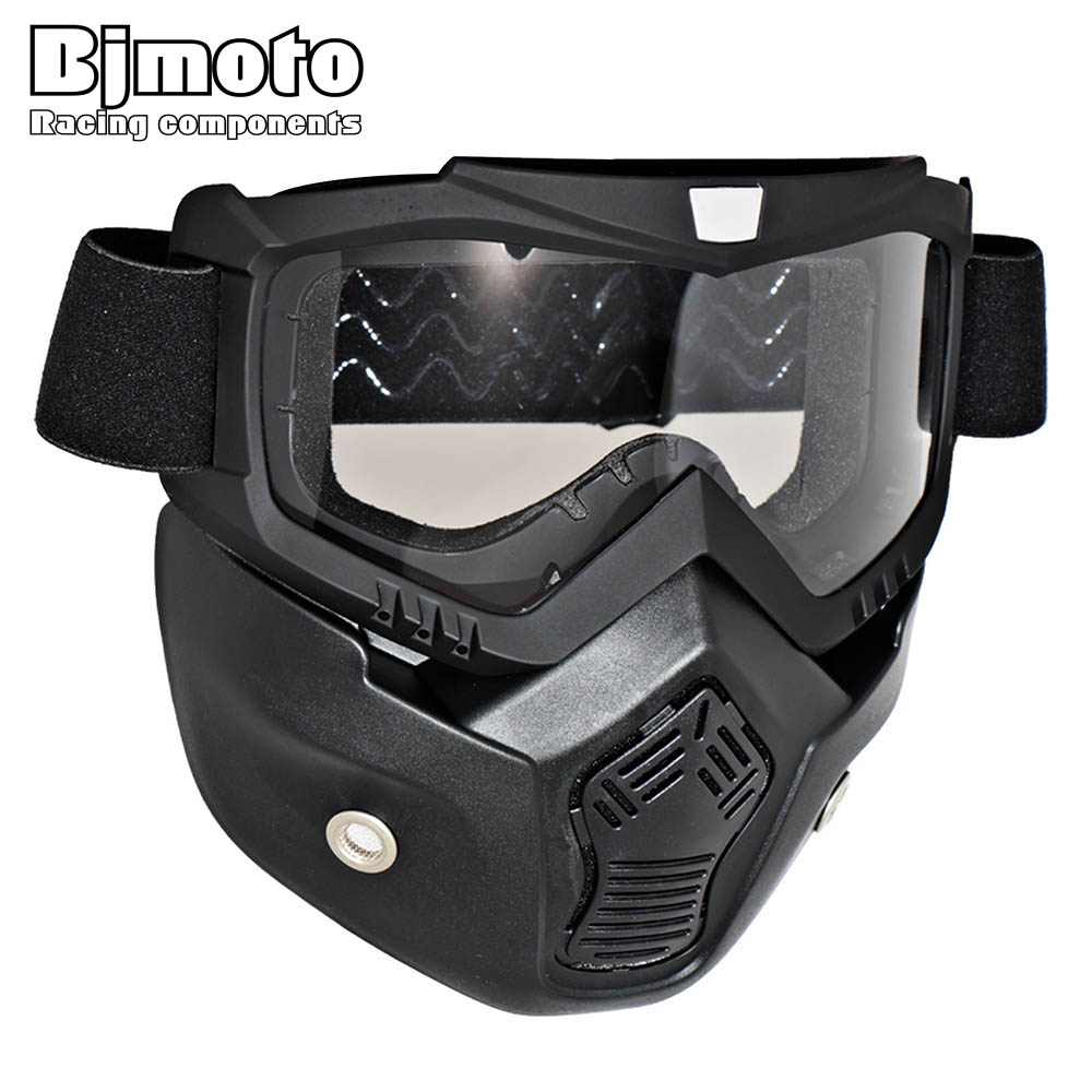 New Arrival Motocross Goggles Detachable font b Mask b font Mouth Filter For Open font b