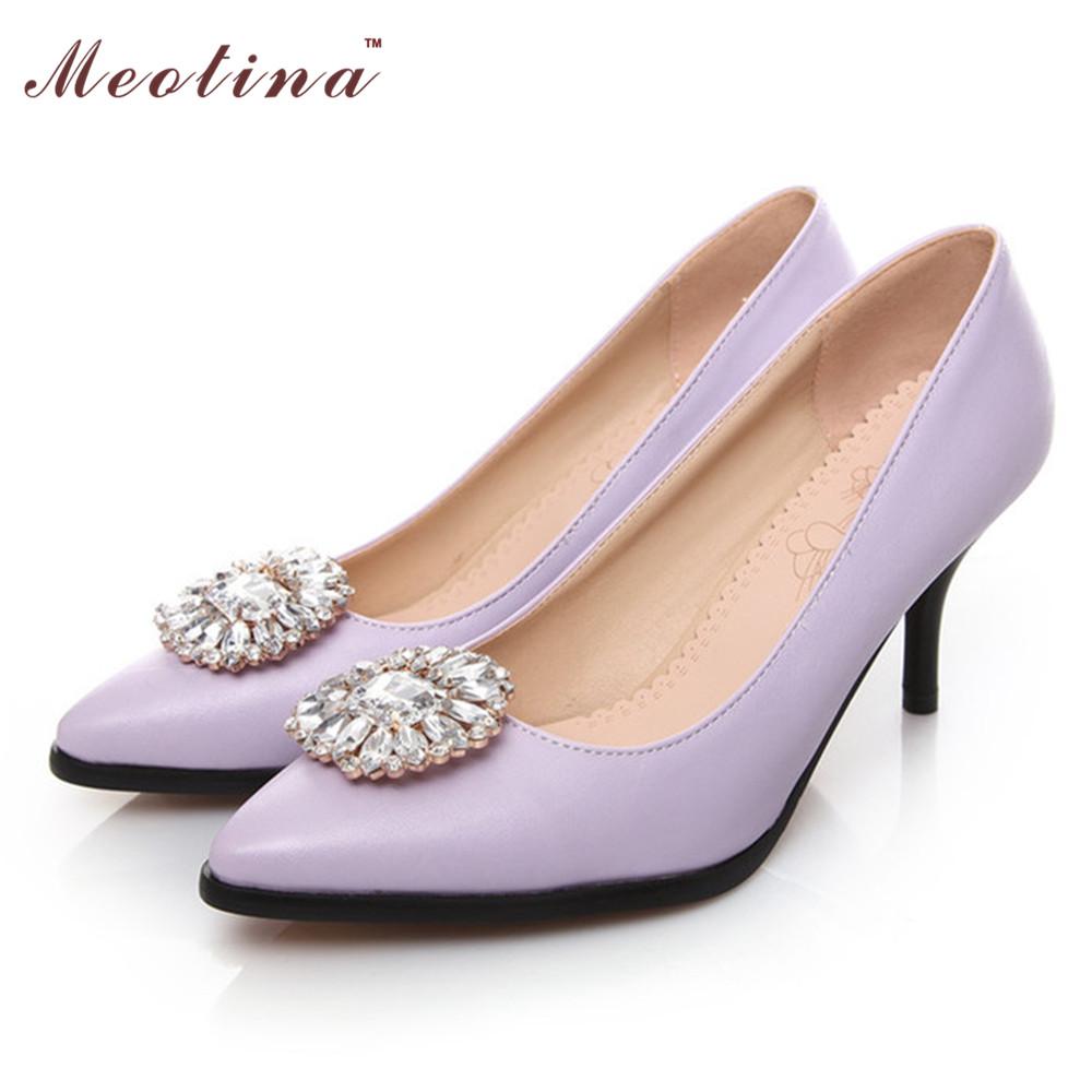 White And Purple Heels