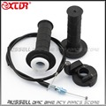 Throttle Cable Handle Bar Grip Casing Set for Honda XR50 CRF50 XR70 CRF70 CRF80 CRF100 Dirt