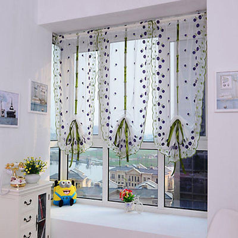 floral totem divisor cortina de tul ventana cenefa pura voile cortina puerta telas para saln dormitorio bao cenefa voile