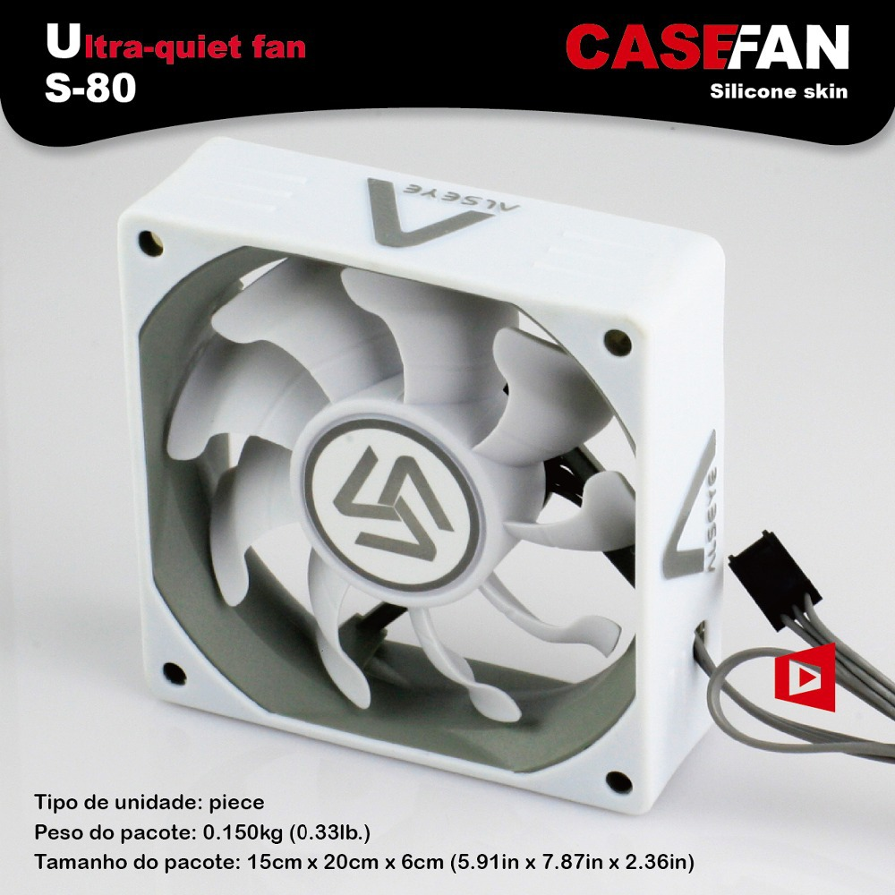 S-80 case fan DC fan thermal system gaming CPU cooler fan computer chassis cooling 8cm 2000RPM 3 pin fan(China (Mainland))