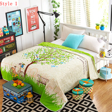 2016 new product 100% cotton material cartoon series summer quilt give you a comfortable sleep(China (Mainland))