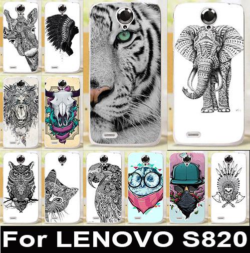 Гаджет  High Quality Hard Cover Case For Lenovo S820 Mobile Phone Cases Painting Protective Back Covers Cat  Elephant Dog Lion Design None Телефоны и Телекоммуникации