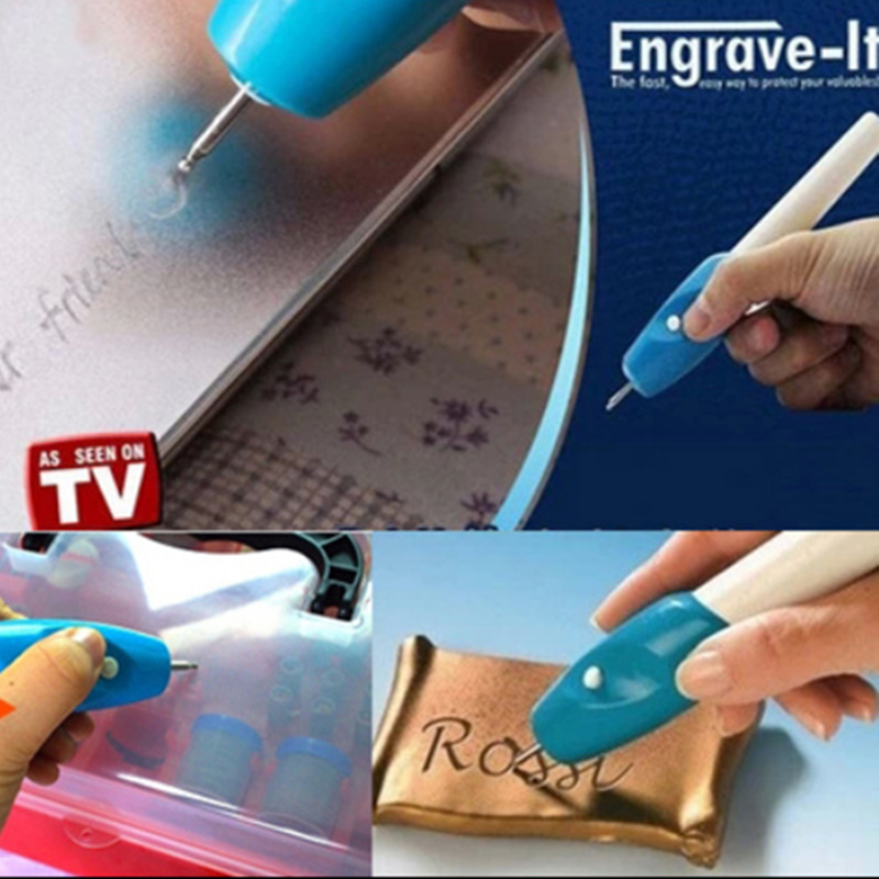 Upgraded DIY electric mini engraving machine  chisel word marker  metal / plastic / glass cutting plotter  use two AA batteries<br><br>Aliexpress