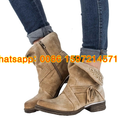 Unique design braid suede boot with fold-over cuffs Suede Ankle Boots Women Motorcycle Boots Beige Tan Shoes Quilted Combat Boot<br><br>Aliexpress