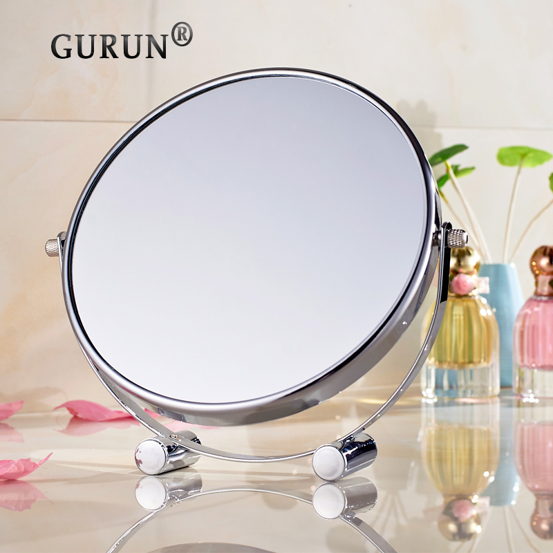 2016 GuRun shipping new personalized desktop cute compact mirrors mirror 6 inch 1x3 magnification makeup mirror plated 2201(China (Mainland))