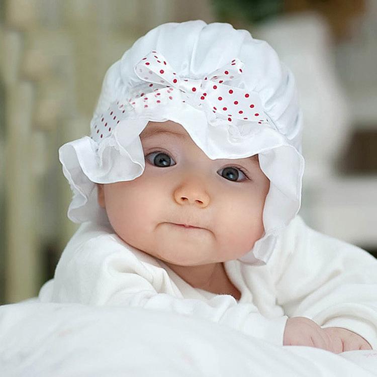 newborn fashion baby girl boy summer sun dots cute lace