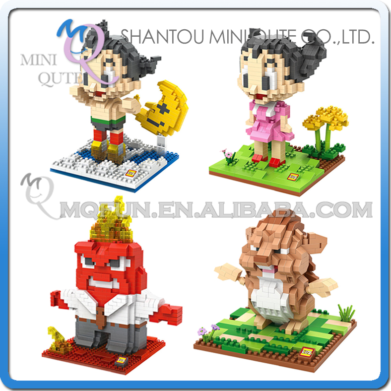 Mini Qute LOZ kawaii anime Astroboy inside out plastic building blocks bricks action figures cartoon model educational toy<br><br>Aliexpress