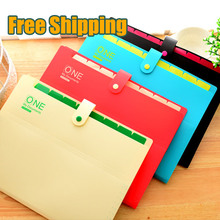 good quality Brand New Waterproof Book A4 Paper File Folder Bag Accordion Style Design Document Rectangle Office Home School(China (Mainland))