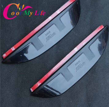 2014 New Real Car Styling Rearview Mirror Rain Eyebrow Side Shine cover stickers Case for Ford Fiesta Ecosport accessories 2012(China (Mainland))