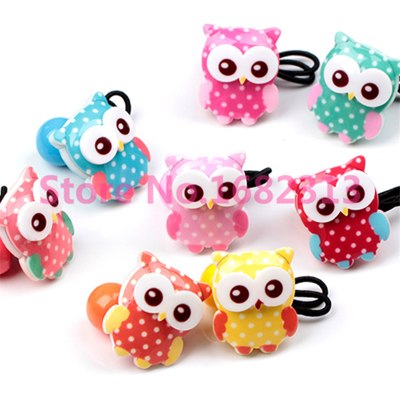 New Arrival styling tool cute Owl Elastic Hair Bands accessories used by women young girl and children Free Shipping(China (Mainland))