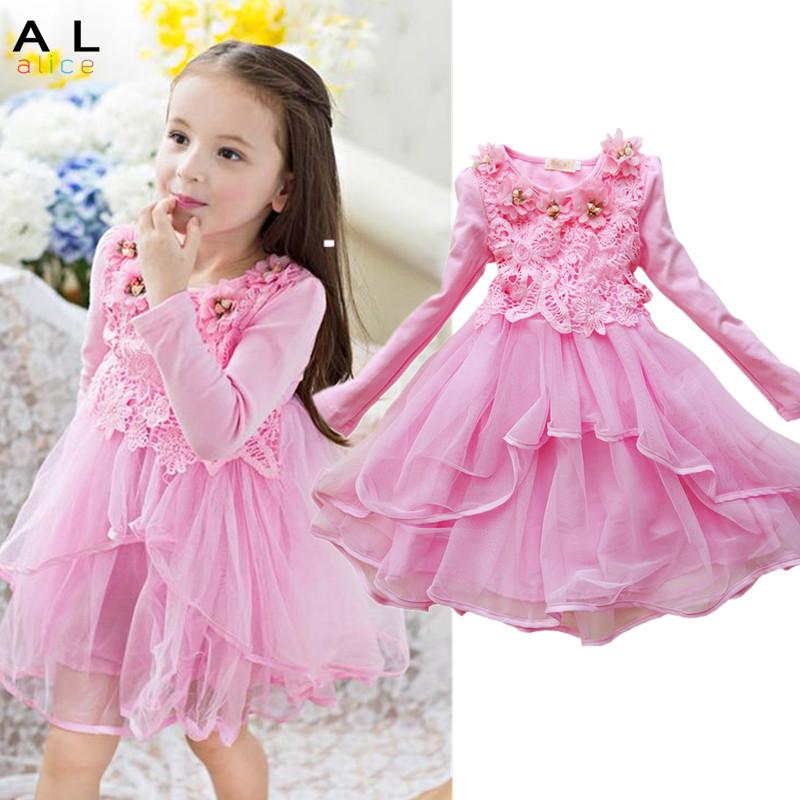 2016 Flower Girl Dress Princess tutu party gift wedding veil flower girl dress children dress pink green macarons candy colors<br><br>Aliexpress