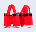 10PCS Lot Santa pants style Christmas Decoration Christmas Wedding Candy Bags Lovely Gifts Xmas Bag For