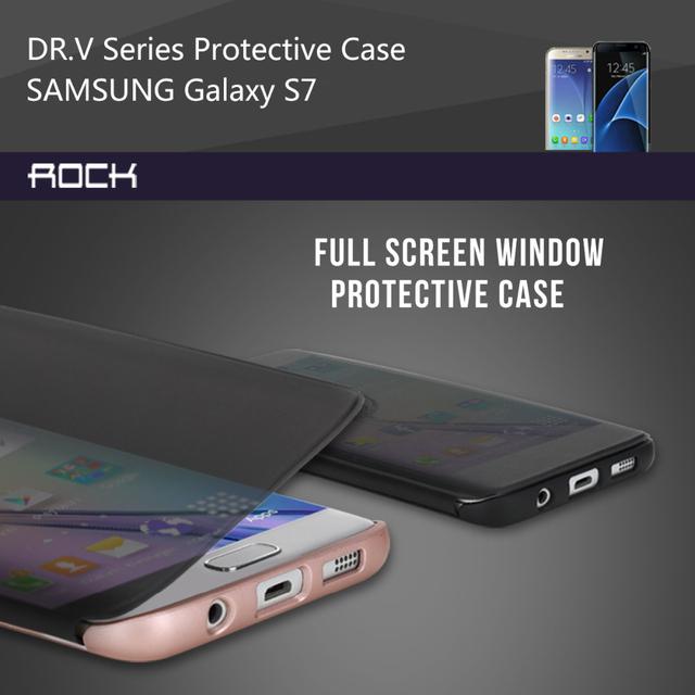 Для Samsung Galaxy S7 Edge Чехол Рок Д-Р V Роскошь Посмотреть Полное Окно смарт Флип Чехлы Для Samsung Galaxy S7/S7 Edge Чехлы