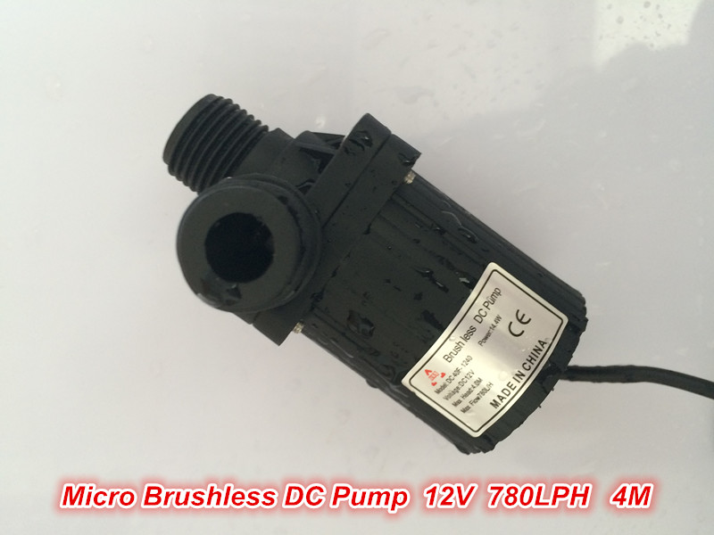 2pcs/ Lot 12V Micro DC Water pump, DC40F-1240 780LPH 4M, Brushless, Submersilbe, for Fish tank Fountain Circulating Cooling SYS<br><br>Aliexpress