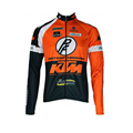 KTM Men Cycling Jersey Pro Team 2016 Long Sleeve Bike Shirt Bicycle Clothing Wear Breathable outdoor